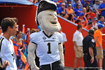 The Vanderbilt Commodore mascot.  Florida Gators vs Vanderbilt Commodores.  Gainesville, FL.  November 9, 2013.
