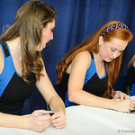 The Gatorettes sign autographs for fans at the Gator Fan Day.  Stephen C. O'Connell Center.  August 17th, 2013