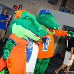 Albert and Alberta at Gator Fan Day.  Stephen C. O'Connell Center.  August 17th, 2013