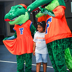 Albert and Alberta posed for pictures with the kids at the Gator Fan Day.  Stephen C. O'Connell Center.  August 17th, 2013