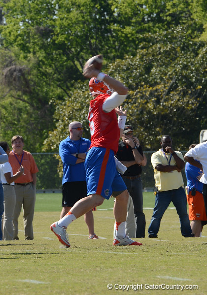 Driskel (6) passes in 11 on 11 drill