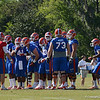 Driskel (6) calls play in huddle during 11 on 11