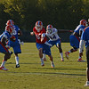 Driskel (6) ball fakes to Jones (24) after handing off to Purifoy (15)