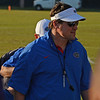 Muschamp leaves practice facility with first practice of Spring 2013 in the books