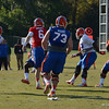 Driskel (6) completes pass as McCalister (95) and Cummings (55) apply pressure and Moore (73) and Garcia (76) protect