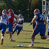 Driskel delivers pass before pocket collaspes