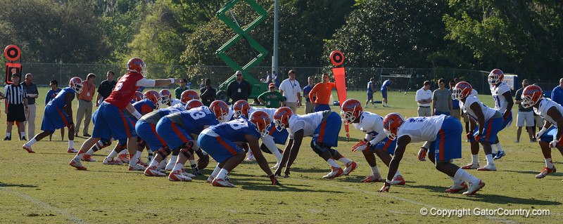 Driskel (6) points out blocking assignments