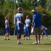 Muschamp explaining defensive schemes to Maye