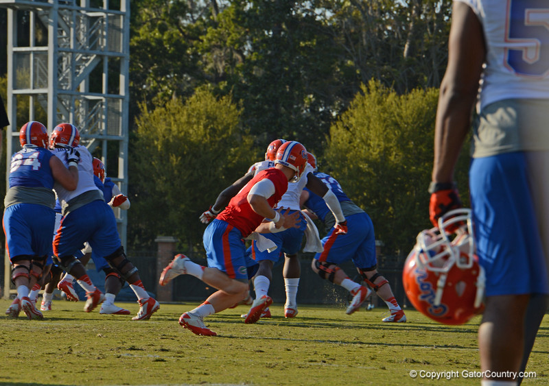 Driskel (6) carries out play after handing off ball