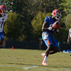 Westbrook (87) makes reception as Gorman (21) defends