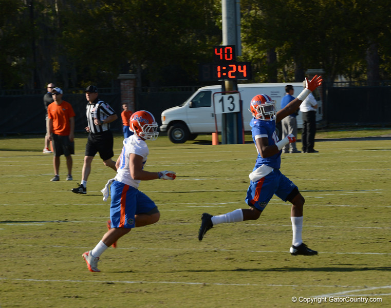 Purifoy (15) calls for deep ball