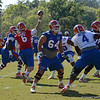 Driskel (6) delivers pass in the flat with Koehne (64) providing protection against Jacobs (4)
