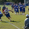 Anzalone (34) & Taylor (51) compete in 1 on 1 drill