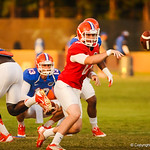 QB Skyler Mornhinweg pitches at gator practice 8-15-13.