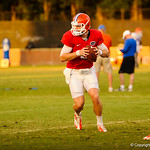 QB Jeff Driskel pitches the ball during the gator practice on 8-15-13.