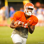 Florida running with the ball during the gators practice on 8-15-13.