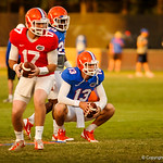 Christian Provancha and Skyler Mornhinweg at gator practice 8-15-13.