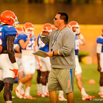 Brian White  and FB Gideon Ajagbe. Gators Practice. 8-15-13.