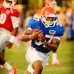 RB Mark Herndon catches the ball during the gator practice on 8-15-13.