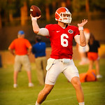 QB Jeff Driskel throws downfield. Gators Practice 8-15-13.