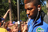 Florida Gator DB Loucheiz Purifoy makes his way to the stadium.  Florida Gators vs Georgia Southern Eagles.  Gainesville, FL.  November 23, 2013.