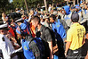 The Florida Gator football players greet the military servicemen who lined up along the Gator walk in a salute to those who serve.  Florida Gators vs Georgia Southern Eagles.  Gainesville, FL.  November 23, 2013.