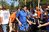 The Florida Gator football team greet fans as they make their way down the brick walkway in front of Ben Hill Griffin Stadium.  Florida Gators vs Georgia Southern Eagles.  Gainesville, FL.  November 23, 2013.