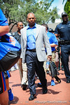 Coch Joker Phillips as he walks into the stadium.  Gators vs Tennessee Volunteers.  September 21, 2013.