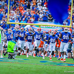 The gators take the field.  Gators vs Toledo.  8-31-13.