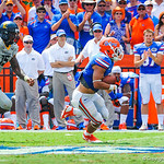 WR Trey Burton catches the ball and runs downfield.  Gators vs Toledo.  8-31-13.