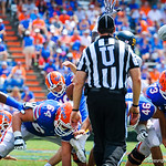 K Austin Hardin attempts a FG but it goes wide.  Gators vs Toledo.  8-31-13.