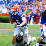 QB Jeff Driskel takes off on the run.  Gators vs Toledo.  8-31-13.