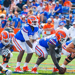 QB Tyler Murphy prepares to snap the ball.  Gators vs Toledo.  8-31-13.