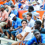 Gator recruits watch the game.  Gators vs Toledo.  8-31-13.