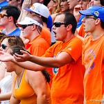 Gator Fans cheer on during the game.  Gators vs Toledo.  8-31-13.