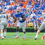 DB Valdez Showers rushes in to make a play.  Gators vs Toledo.  8-31-13.