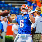 QB Jeff Driskel warming up before the Toledo game.  Gators vs Toledo.  8-31-13.