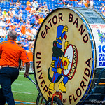 The Gator Band takes the field.  Gators vs Toledo.  8-31-13.