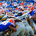 Getting rough in the trenches.  Gators vs Toledo.  8-31-13.