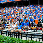 The florida recruits watch the game.  Gators vs Toledo.  8-31-13.