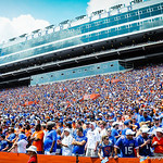 Gator fans cheer on.  Gators vs Toledo.  8-31-13.