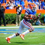 WR Solomon Patton takes the kickoff out of the endzone.  Gators vs Toledo.  8-31-13.