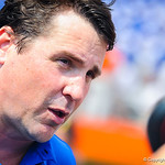 Coach Muschamp gives an interview following the game.  Gators vs Toledo.  8-31-13.