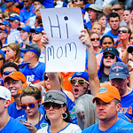 A gator fan shows his support for his mother.  Gators vs Toledo.  8-31-13.