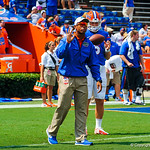 Chris Leak gives the QBs instructions during warmup.  Gators vs Toledo.  8-31-13.