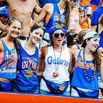 Gator fans sing the alma mater.  Gators vs Toledo.  8-31-13.