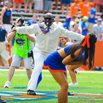 Gator Hall of Fame player Errict Rhett performs 2-Bit.  Gators vs Toledo.  8-31-13.