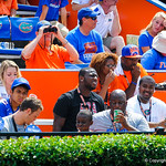 Gator recruits watch on during the game.  Gators vs Toledo.  8-31-13.
