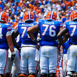 The gtaor offensive line.  Gators vs Toledo.  8-31-13.