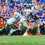 Trying to get to the outside.  Gators vs Toledo.  8-31-13.